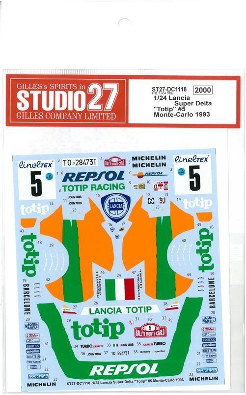 車・バイク, レーシングカー 124 Lancia Super DeltaTotip5 Monte-Carloo 1993 H124
