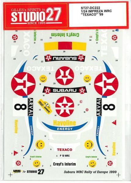 車・バイク, レーシングカー 124 SUBARU IMPREZA WRC TEXACO 99