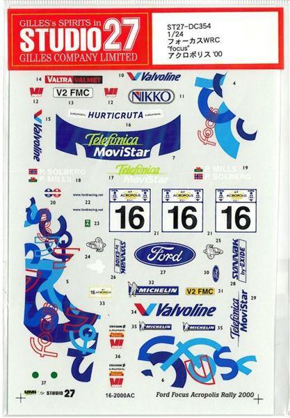 車・バイク, レーシングカー 124 FOCUS WRCfocusACROPOLIS 00