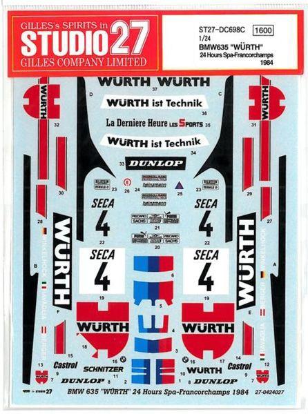 車・バイク, レーシングカー 124 BMW WURTH 24h spa-francorchamps 84