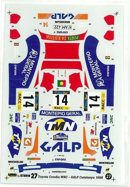 車・バイク, レーシングカー 124 TOYOTA COROLLA GALP WRC 98