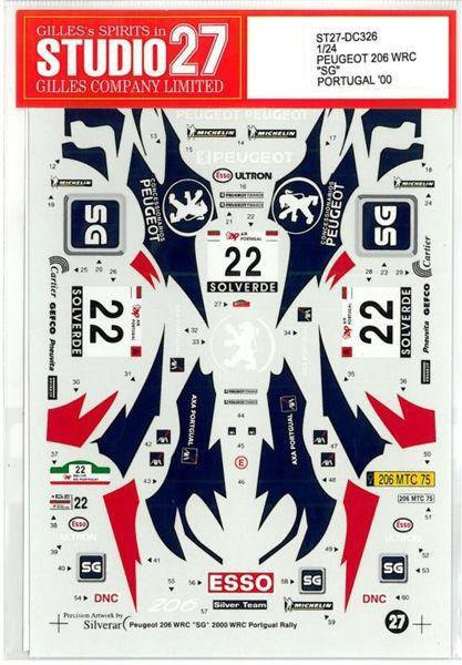 車・バイク, レーシングカー 124 PEUGEOT206 WRC SGPORTUGAL00