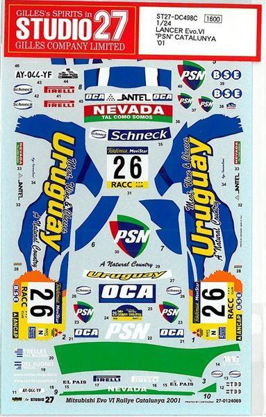 車・バイク, レーシングカー 124 LANCER Evo.Vl PSNCATALUNYA01