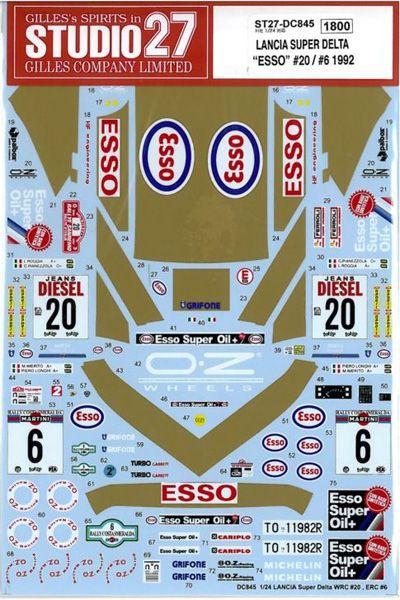 車・バイク, レーシングカー 124 LANCIA SUPER DELTA ESSO 206 1992 H124
