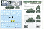 1/35 M4A3E8 EASY EIGHT decal set【FOX MODELS】