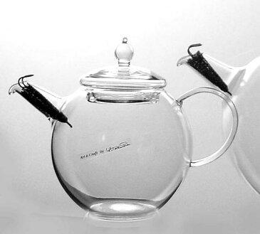硝子工房クラフトユー 紅茶ポット 0.5L 2人用QPW-5耐熱ガラスティーポット