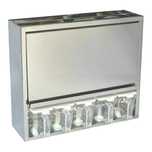 <10月末再入荷予定><送料無料>スパイスラック ステンレス 5杯 SPC-5 幅46.5×高さ40cm(調味料...