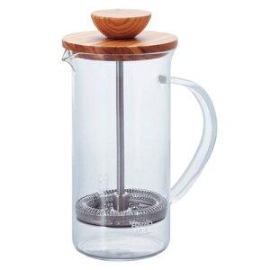 HARIO/ハリオ* 耐熱ガラス製 ティープレス・ウッド 300ml(2杯用) THW-2-OV 7-1847-0201_ES