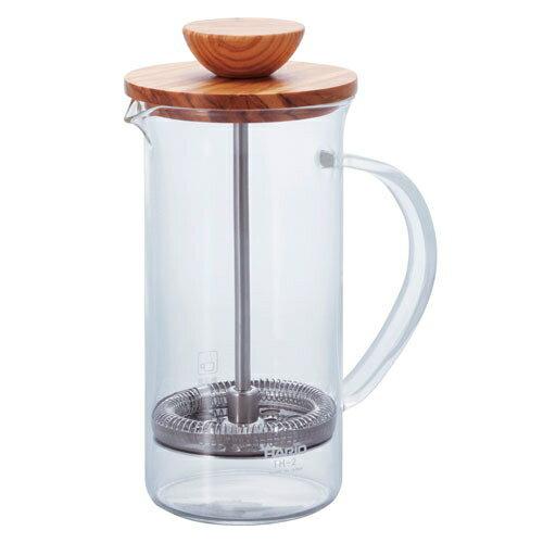 HARIO/ハリオ 耐熱ガラス製 ティープレス・ウッド 600ml(4杯用) THW-4-OV7-1847-0202_ES