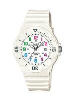 CASIOカシオ海外モデルベーシックLRW200H-7Bホワイト×マルチカラーレディース腕時計☆あす楽ラッピング送料無料
