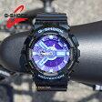 [ポイント2倍][送料無料]G-SHOCK CASIO カシオGショック ハイパーカラーズGA110HC-1A人気のブラック/パープル200M防水 メンズ腕時計[あす楽/ラッピング無料]