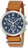 【ポイント2倍】タイメックス 腕時計TW2P623 TIMEXウィークエンダー クロノ革ベルト メンズ 時計【あす楽】【ラッピング/送料無料】