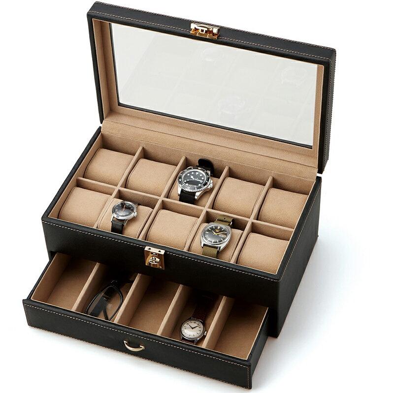【ポイント10倍】腕時計コレクションケースコレクターケースElementum(240-439)収納 15本 【あす楽】[送料無料]