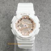 [ポイント2倍]CASIO カシオ Baby-GBA110-7A1ベイビーG デジアナ ウォッチレディース/男の子/腕時計[あす楽/ラッピング/送料無料]ホワイトとゴールドの組合せが可愛い♪