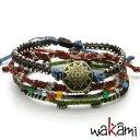 wakami Earth 4 strandsワカミ wa0388 ブレスレット 4本セット【ポイント5倍】【あす楽】送料無料(一部地域除く)