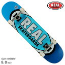REAL TM EDITION OVAL COMPLETE BLUE 8.0 inch コンプリートスケートボード スケボー