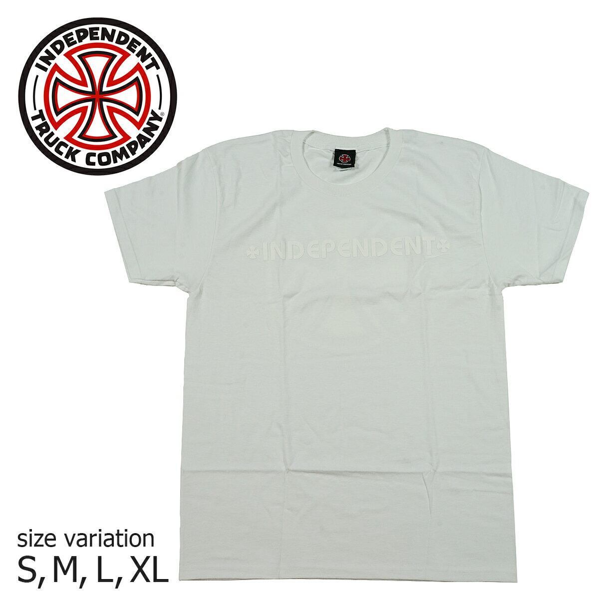 トップス, Tシャツ・カットソー INDEPENDENT BAR CROSS FADE OUT SS TEE WHITE T