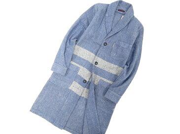 日本製 BLUE BLUE ブルーブルー インディゴブラシュオックス ショールカラー ガウン カーディガン S /na181106-1 /メンズ