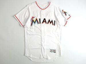 Majestic マジェスティック USA製 MLB メジャーリーグ ベースボール Miami Marlins マイアミマーリンズ Authentic Collection FLEX BASE ICHIRO イチロー選手 51 Home プレイヤー ユニフォーム 野球 定4.1万 ホワイト 40-01 44-02 48-03▲058▼00109k06