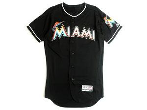 Majestic マジェスティック USA製 MLB メジャーリーグ ベースボール Miami Marlins マイアミマーリンズ Authentic Collection FLEX BASE ICHIRO イチロー選手 51 Alternate プレイヤー ユニフォーム 野球 定4.1万 ブラック 40-01 44-02 48-03▲058▼00109k07