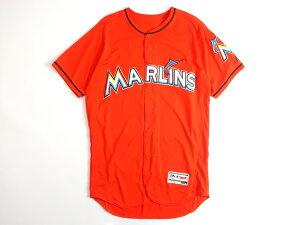 Majestic マジェスティック USA製 MLB メジャーリーグ ベースボール Miami Marlins マイアミマーリンズ Authentic Collection FLEX BASE ICHIRO イチロー選手 51 Alternate プレイヤー ユニフォーム 野球 定4.1万 オレンジ 44-01 48-02▲058▼00109k08
