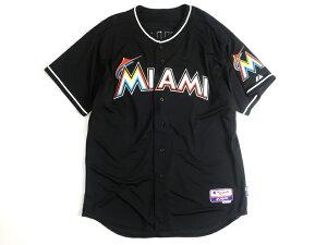 Majestic マジェスティック USA製 MLB メジャーリーグ ベースボール Miami Marlins マイアミマーリンズ Authentic Collection COOL BASE ICHIRO イチロー選手 51 Alternate プレイヤー ユニフォーム 野球 定4.1万 ブラック 44-01 48-02 52-03▲058▼00109k09