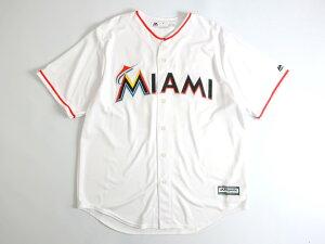 Majestic マジェスティック MLB メジャーリーグ ベースボール Miami Marlins マイアミマーリンズ COOL BASE ICHIRO イチロー選手 51 HOME プレイヤー レプリカ ユニフォーム 野球 定1.7万 ホワイト S-01 M-02 L-03 XL-04▲025▼00109k14