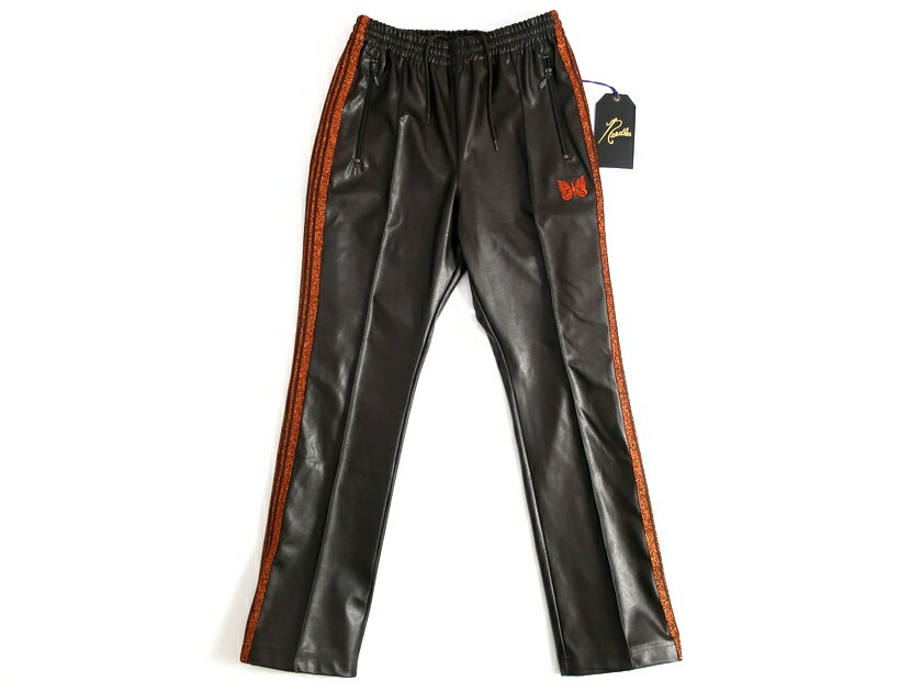メンズファッション, ズボン・パンツ Needles FK200 Narrow Track Pant Synthetic Leather 4 S-01 M-0215000323a13
