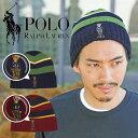 POLO RALPH LAUREN/ポロ ラルフローレン ニット帽 メンズ レディース おしゃれ ウール シンプル ボーダー 帽子 暖かい 防寒 ワンポイント ロゴ ブランド 男性 プレゼント プチギ