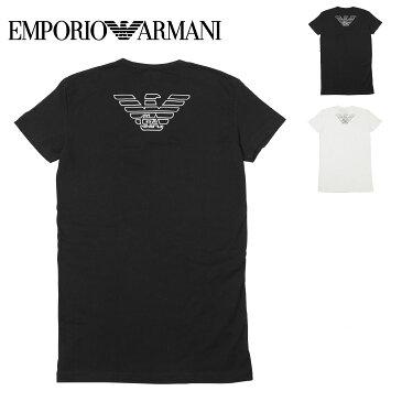 エンポリオ アルマーニ Tシャツ メンズ 半袖 Vネック トップス カットソー 無地 ロゴ イーグル ワンポイント EA STRETCH COTTON EAGLE EMPORIO ARMANI 誕生日プレゼント 彼氏 父 男性 旦那 ギフト