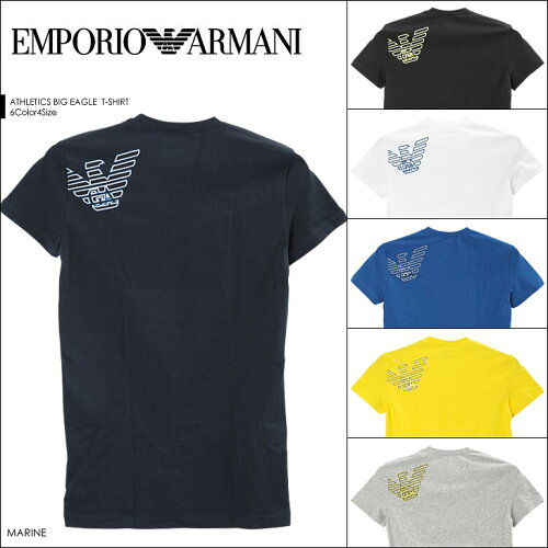エンポリオアルマーニ/EMPORIO ARMANI メンズ Vネック 半袖 Tシャツ ATHLETICS BIG EAGLE 男性 ブ...
