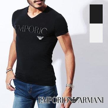 エンポリオ アルマーニ Tシャツ メンズ Vネック 半袖 SLEEVE イーグル ロゴ ブランド EMPORIO ARMANI 誕生日プレゼント 彼氏 父 男性 旦那 ギフト