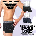 EMPORIO ARMANI エンポリオ アルマーニ ロングボクサーパンツ メンズ 下着 おしゃれ 大きいサイズ THIN EAGLE 綿 ブランド ロゴ 男性 プレゼント プチギフト 誕生日プレゼント 彼氏 父 ギフト 記念日
