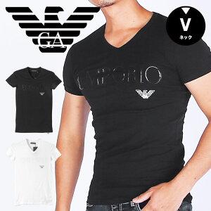 EMPORIO ARMANI エンポリオ アルマーニ Vネック 半袖 Tシャツ メンズ EALOGO STRETCH COTTON かっこいい おしゃれ 綿 父の日 ブランド 男性 プレゼント プチギフト 誕生日プレゼント 彼氏 父 ギフト 記念日