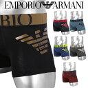 エンポリオ アルマーニ ボクサーパンツ メンズ 下着 おしゃれ EMPORIO ARMANI 3D PRINT 綿 かっこいい ロゴ ブランド 高級 男性 プレゼント プチギフト 誕生日プレゼント クリスマス 彼氏 父 息子 ギフト 記念日 111776-725・・・