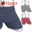 Hanes/ヘインズ ボクサーパンツ メンズ 下着 大きい おしゃれ MULTI STRIPE SEAMLESS ジムウェア 綿 ブランド 男性 プチギフト 誕生日プレゼント 父 ギフト 記念日 安い 前開き