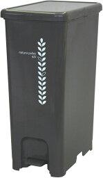 ゴミ箱 ペダルペール 40L チョコレートブラウン (ふた付き おしゃれ) 幅250×奥行410×高さ570mm【インテリアに馴染む、おしゃれなペダル式ゴミ箱 。】