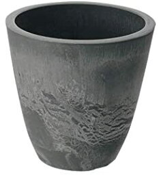 ボタニー プレーンポット 15型 ダークグレー(DG)【鉢 植木鉢 ポット 丸型 深型 おしゃれ 陶器調 割れにくい】