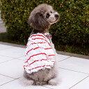 CRAZYBOO / クレイジーブー【アウトレット】フリルボーダーキャミソールXL / XXL / DLサイズ犬服 / 犬の服/ ドッグウェア その1