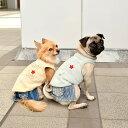 CRAZYBOO / クレイジーブー刺繍ワッペン裏ボアタンクトップXS / S / M / L サイズ犬服 / 犬の服/ ドッグウェア その1
