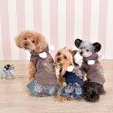 CRAZYBOO / クレイジーブーベアストーン裏ボアパーカXS / S / M / L サイズ犬服 / 犬の服/ ドッグウェア