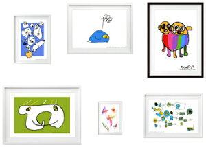 お子様の絵をアート作品にリトルアーティストお仕立券・Sサイズ【42.4cm×34.9cm】