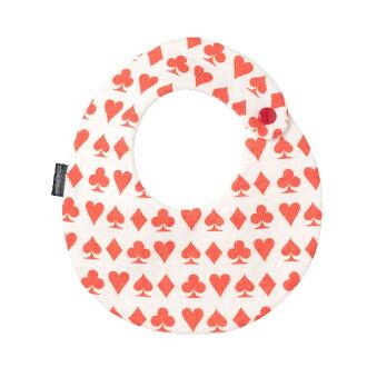 花嬰兒泰國撲克牌紅花紋maru型★口水巾Bib有機棉布嬰兒口水漂亮的嬰兒分娩祝賀祝賀男人的子女的孩子[milcotton]