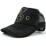 大きいサイズ メンズ 帽子 L XL ガレージヘンプ ワッペンキャップBIGWATCH オールブラック ビッグサイズ ビッグワッチ CPB-09 春 夏 秋 UVケア
