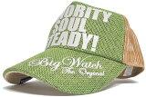 大きいサイズ メンズ 帽子 L XL ヘンプキャップ BIGWATCH グリーン ベージュ メッシュキャップ ビッグサイズ ビッグワッチ CP-15 春 夏 秋 UVケア