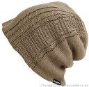 大きいサイズ メンズ 帽子 L XL ケーブル BIGWATCH ビッグワッチ 正規品 ベージュ ニット帽 ニットキャップ DP-02 春 秋 冬