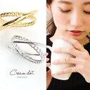 【ゆうパケット送料無料】リング 指輪 アクセサリー チェーン クロス シンプル 銀 シルバー 金 ゴールド デイリー 結婚式 カジュアル 小物 ファッション雑貨 ギフト 大人 レディース 女性 kessan