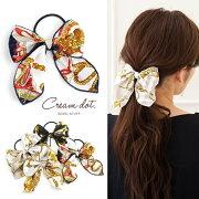 パケット スカーフ ヘアアクセ レディース ホワイト ベージュ ブラック フェミニン デイリー カジュアル ファッション