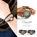 【ゆうパケット送料無料】腕時計 キャメル ブラウン ブラック 20mm 2重巻き 本革レザーベルト 日本製ムーヴメント レディース クラシック ブランド ウォッチ ギフト outlet ラッピング不可