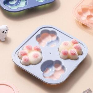 シリコンモールド 猫の手 おもしろ 製氷皿 シリコン アイストレー クールバッグ シリコン お菓子 ゼリー チョコレート 型 かわいい パーティー 猫の手 猫 ねこ